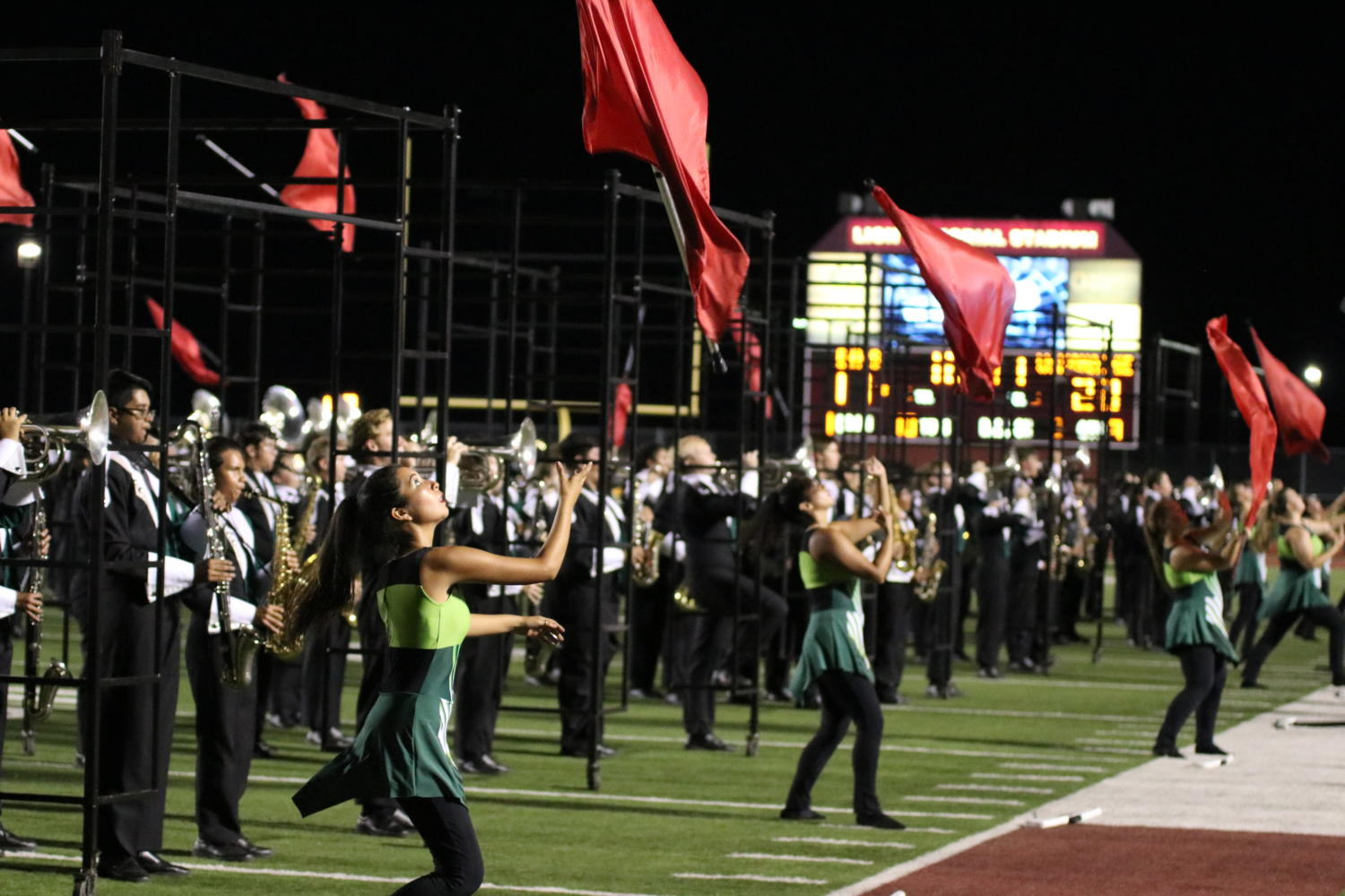The Spirit of Waxahachie performs at halftime of the 2018 Battle of 287.
