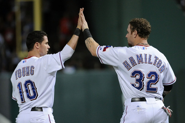 Josh Hamilton and Michael Young, recent Rangers honorees.