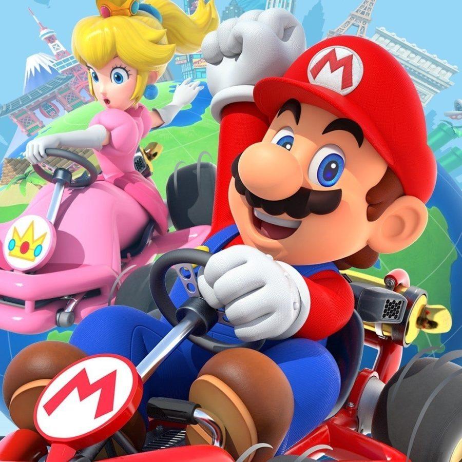 Promotional+art+for+Nintendo%27s+%22Mario+Kart+Tour.%22