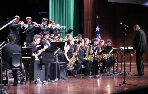 The WHS Jazz Orchestra, under the direction of Rich Armstrong.