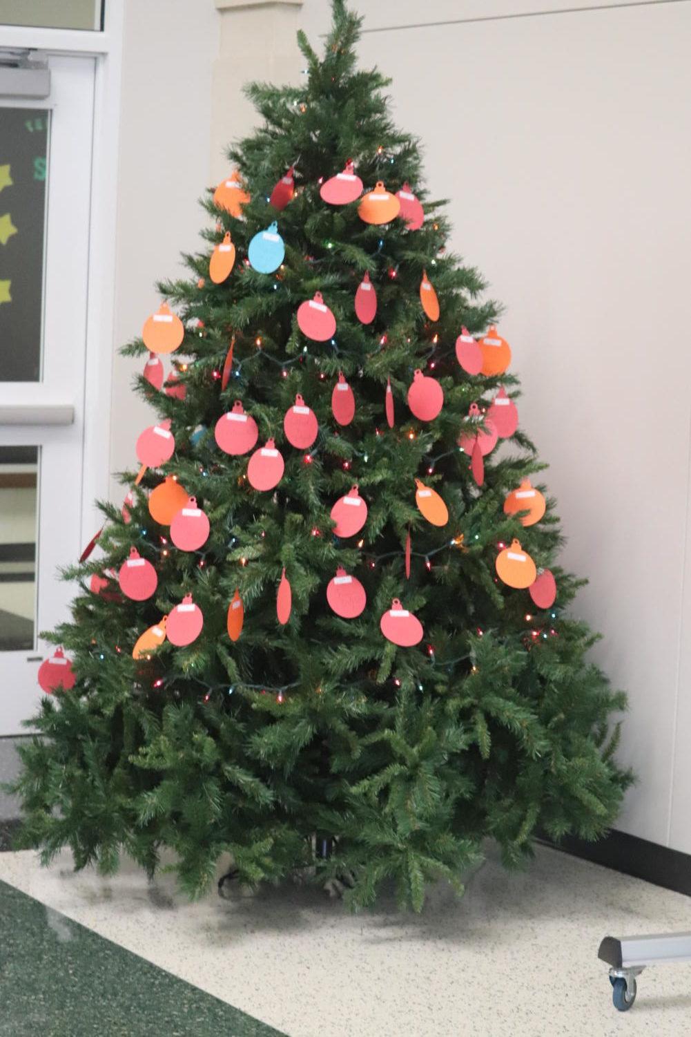 The WHS Angel Tree, located in the library.