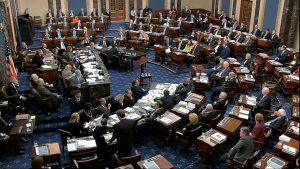 The United States Senate during the impeachment trial of President Donald Trump.