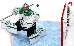 Stars win game 1 behind Khudobin